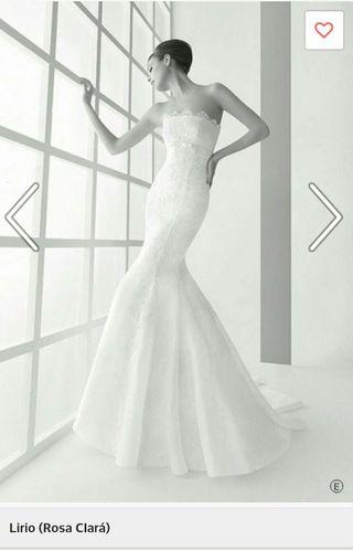 vestido de novia rosa clara de segunda mano en huelva en wallapop