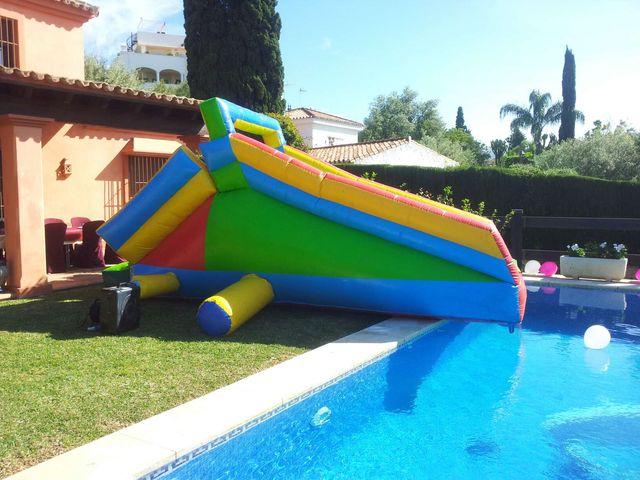 Alquiler de tobogan de piscina