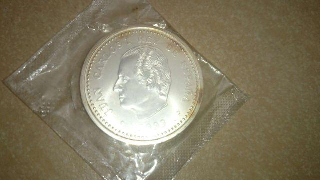 Una moneda de plata