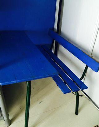 Bureau d'ecolier Vintage Bleu