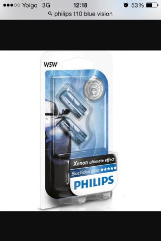Phillips Blue Vision T10