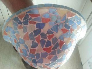 Aplique mosaico pared
