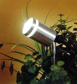 Foco/pincho exterior acero LED