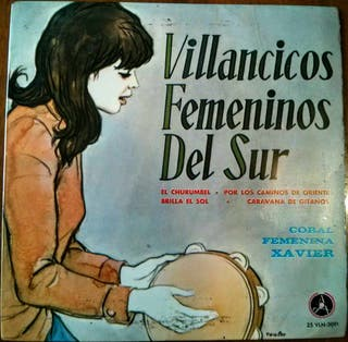 """Villancicos femeninos del sur Disco Vinilo Single SP 7"""" 45rpm"""