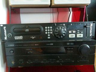 Amplificador Profesional Yamaha RX-V340RDS y reproductor MP3 CD3 Numark
