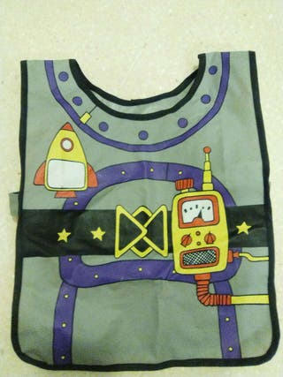 Chaleco disfraz plastificado robot