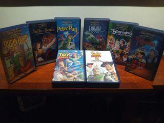 6 películas de cinta de vídeo de clasicos de Walt Disney