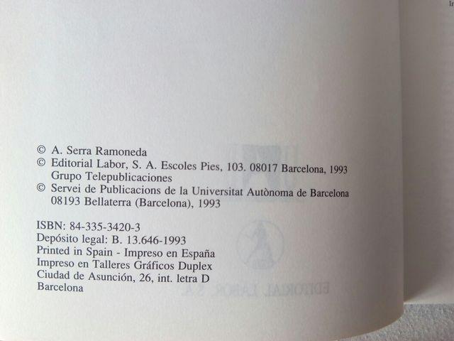 Libro: La empresa. Análisis económico. A. Serra