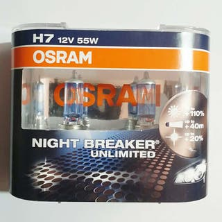 Lamparas H7 55W 12V Osram Night Breaker Unlimited