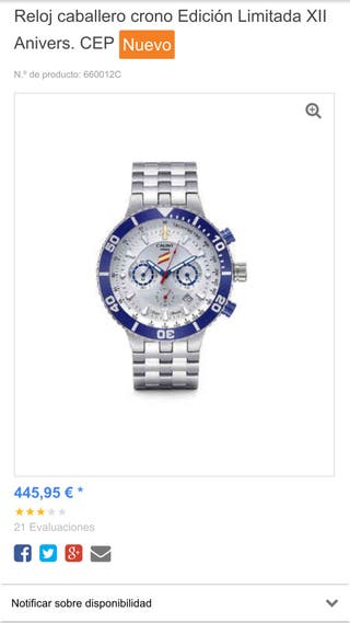 Reloj caballero CAUNY Limited Edition CEP