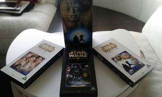 """TRILOGÍA """"STAR WARS"""" EN VHS VER. ORIGINAL"""