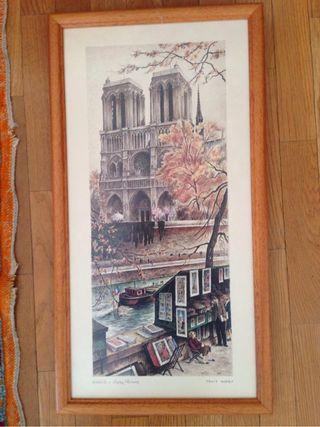 Cuadro Paris. Notre Dame