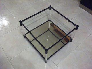 Mesa de cristal y espejo pequeña