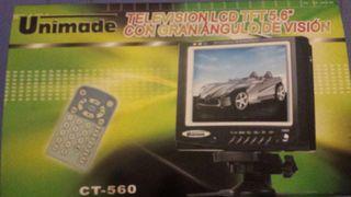 """Televisión portatil lcd tfl 5.6 """" unimade"""