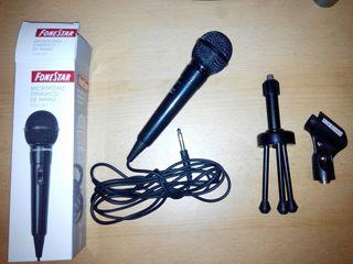 Micrófono Dinámico + Trípode