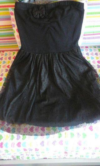 Vestido negro de fiesta de stradivarius talla L