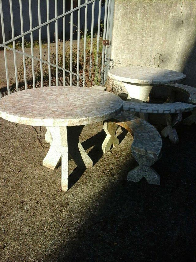 Oferta mesas de piedra de jardin baratas 199 cada una for Mesas jardin baratas