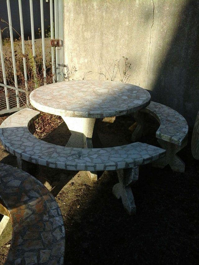 Oferta mesas de piedra de jardin baratas 199 cada una - Piedras para jardin baratas ...