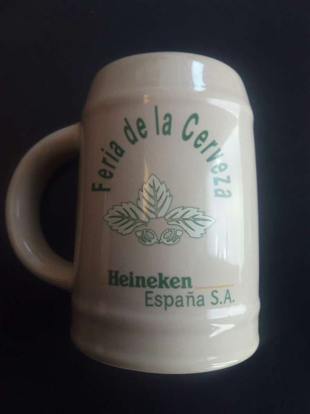 Cerveza Heineken España jarra ceramica