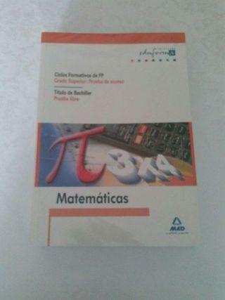 Libro para prueba de acceso a grado superior.