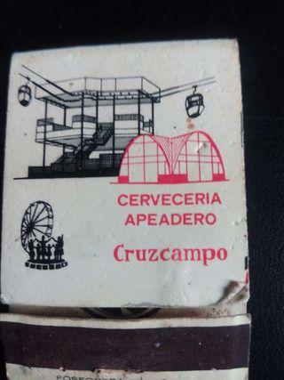 Cerveza Cruzcampo cerillas