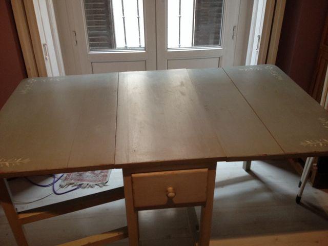 Mesa rústica de cocina o comedor de segunda mano por 70 € en Madrid ...