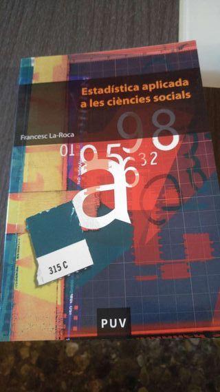 Llibre Estadística aplicada a les ciències socials