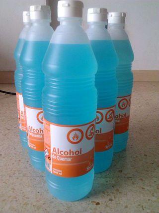 12 botellas alcohol de quemar