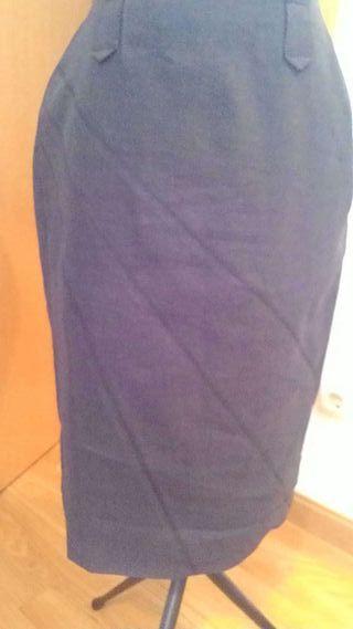 Falda de lino de Caramelo T38-36
