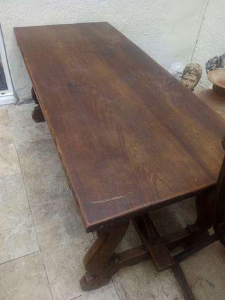 Mesa de madera maciza de madera de casta o de segunda mano por 450 en matar en wallapop Madera de castano