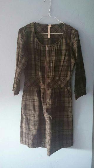 Vestido de cuadros t.38