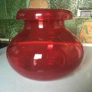 Jarrón Rojo cristal