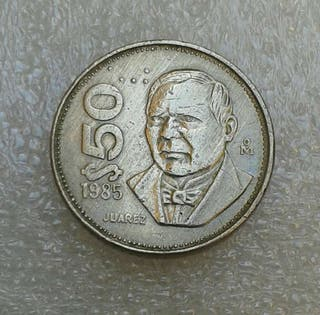 Moneda de Mejico. 50 pesos Mejicanos