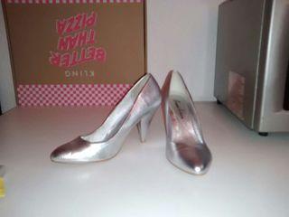 Zapatos T38 plata