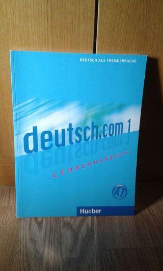 Libro alemán del profesor Hueber deutsch.com 1 nuevo