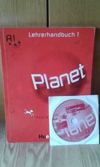 Libro de alemán profesor Hueber Planet nuevo