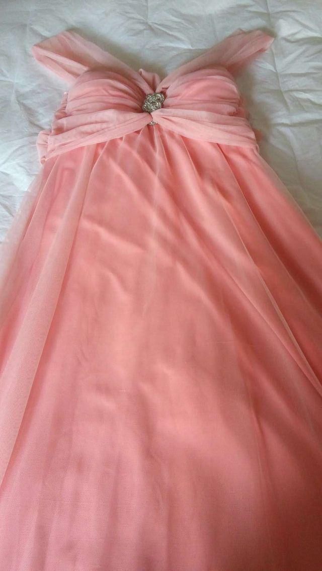 Vestido De Fiesta Rosa Palo Nuevo De Segunda Mano Por 30