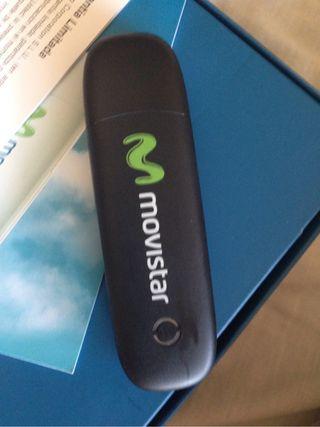 Modem USB ZTE MF190 Movistar. Completo. Color Negro