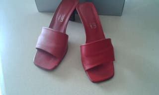 Sandalias piel rojo