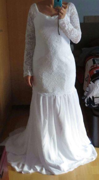vestido de novia talla 38 de segunda mano en zaragoza en wallapop