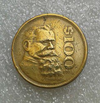Moneda. 100 Pesos (1988) Mejico
