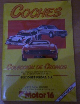 Album cromos coches MOTOR 16 (1987)