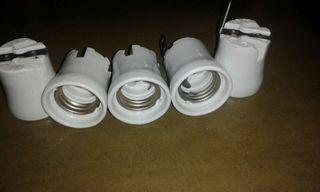 Porta bombillas ceramica