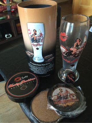 Harley Davidson Set Copa Cerveza Kit