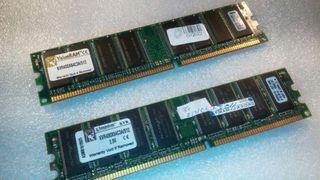 1gb memoria ram DDR1 Kingston 400mhz