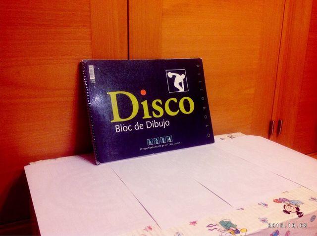 Cuaderno de dibujo Disco NUEVO
