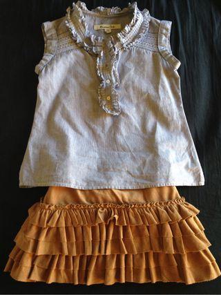 Camisa Dutti Y Falda Zara