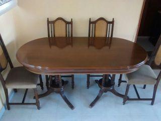 Mesa y sillas comedor de segunda mano por 200 en la robla en wallapop - Wallapop mesa comedor ...