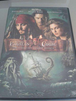 DVD de Piratas del Caribe