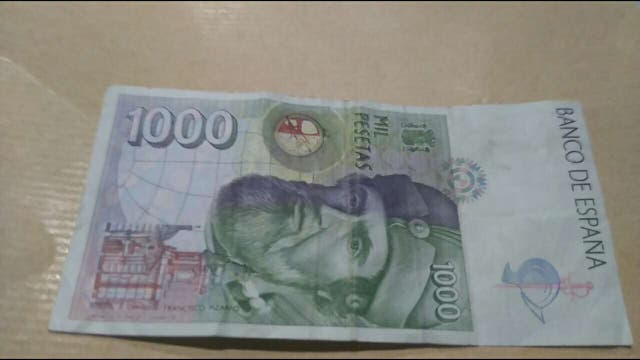 Billete de 1000 pesetas de 1992